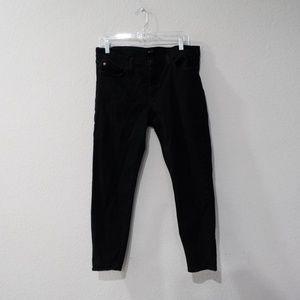 Hudson Krista Super Skinny Crop Black Jeans 32